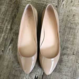 Cole Haan Nude Patent Leather Ballet Flats 7.5